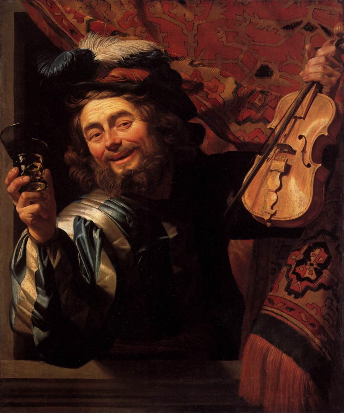 Gerrit van HONTHORST, The Merry Fiddler, 1623