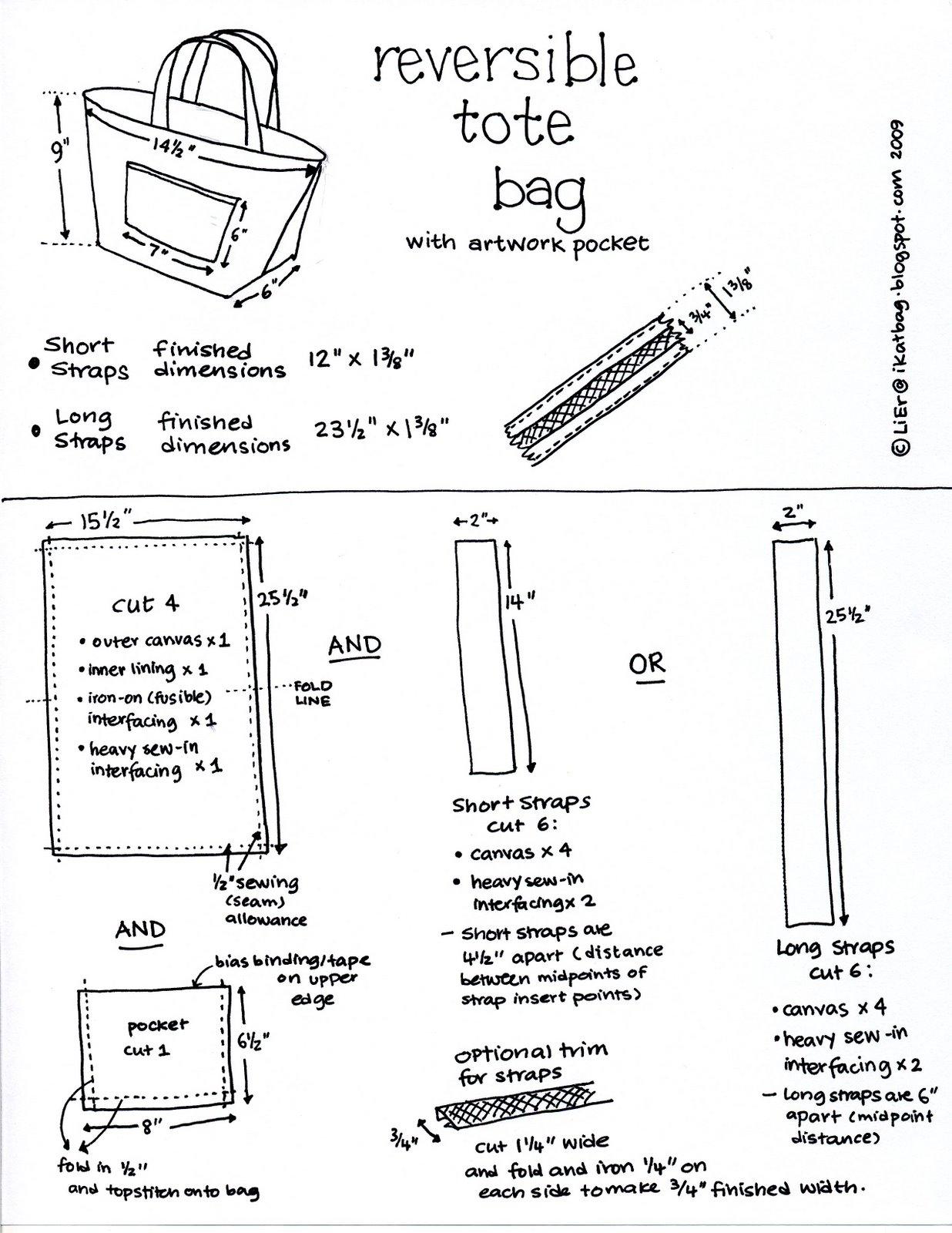 Long Handled Reversible Tote Bag - Free Pattern | PatternPile.com ...