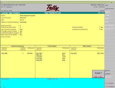 Tally Tutorials Create a Voucher Type – Create a Voucher