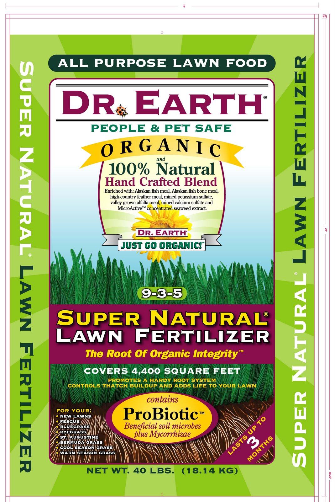 Camino garden center dr earth super natural lawn fertilizer for Fish meal fertilizer