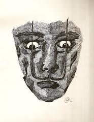 Amo Salvador Dali - desenho à nanquim -Wal