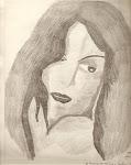 Rosto de Mulher -Desenho à lápis- Wal