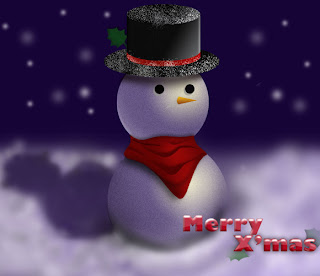 Free Snowman Christmas Backgrounds