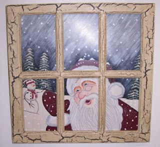 hand painted xmas background