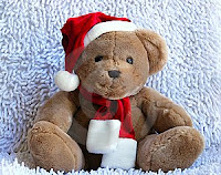 cute teddy background for christmas