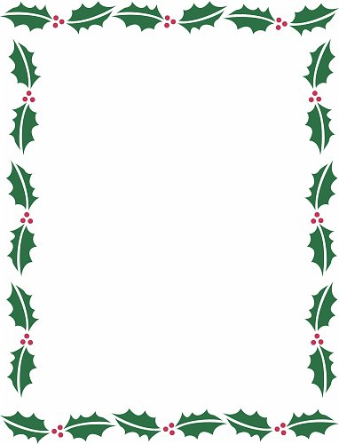 Christmas backgrounds christmas border background free for Free christmas border templates