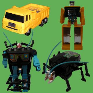 Foto de mis Transformers, los recordaba mucho más chulos de lo que son.