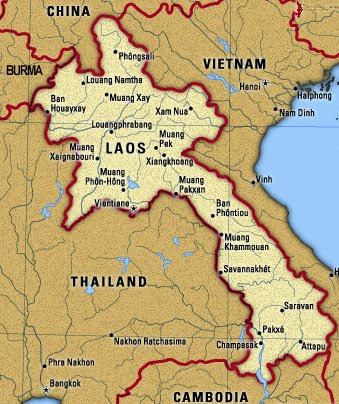 Thailand And Laos Journey MAPS - Laos map