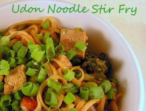 Cook's Hideout: Tofu-Udon Noodle Stir fry