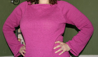 Hourglass Sweater from Last Minute Fitted Knits. I redid the neckline ...