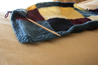 With the rest of my time, I finally took pics of my sluggish knitting ...