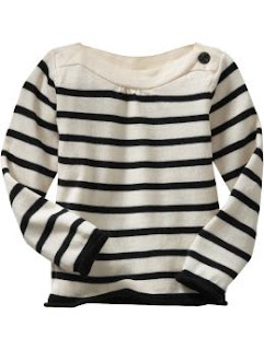striped boatneck sweater $21.99 10/16/10