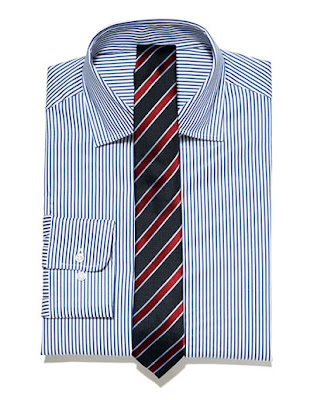 Horizontal Striped Dress Shirts Men