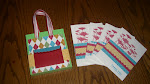 Purse with matching cards