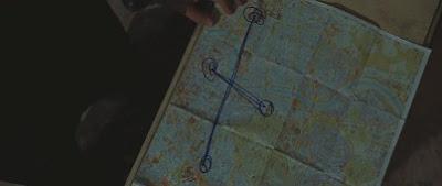 Кадр из фильма. Карта Рима.