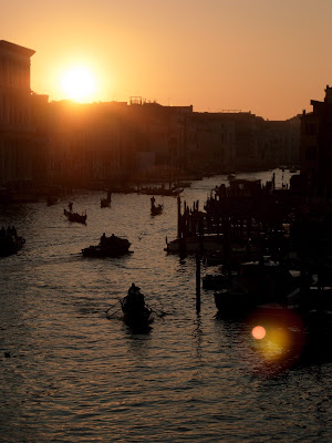 Sunset in Venice from the Rialto