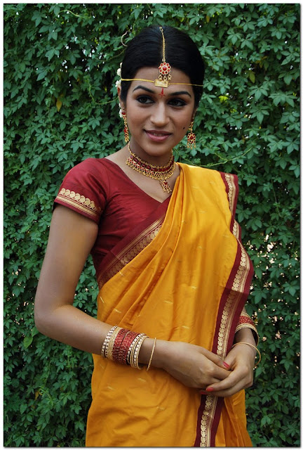 Actress Shraddha Das Yellow Saree Photos
