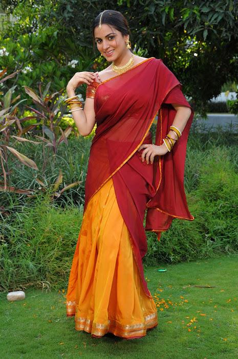shraddha arya in half saree
