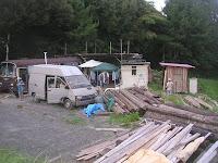 画面左に2階建て住居を建築予定