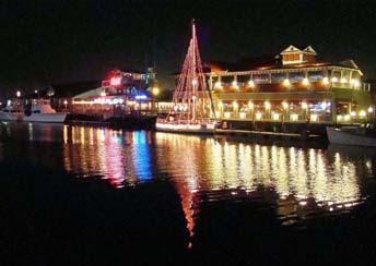 Paint Charleston Daily Christmas Lights On Shem Creek In