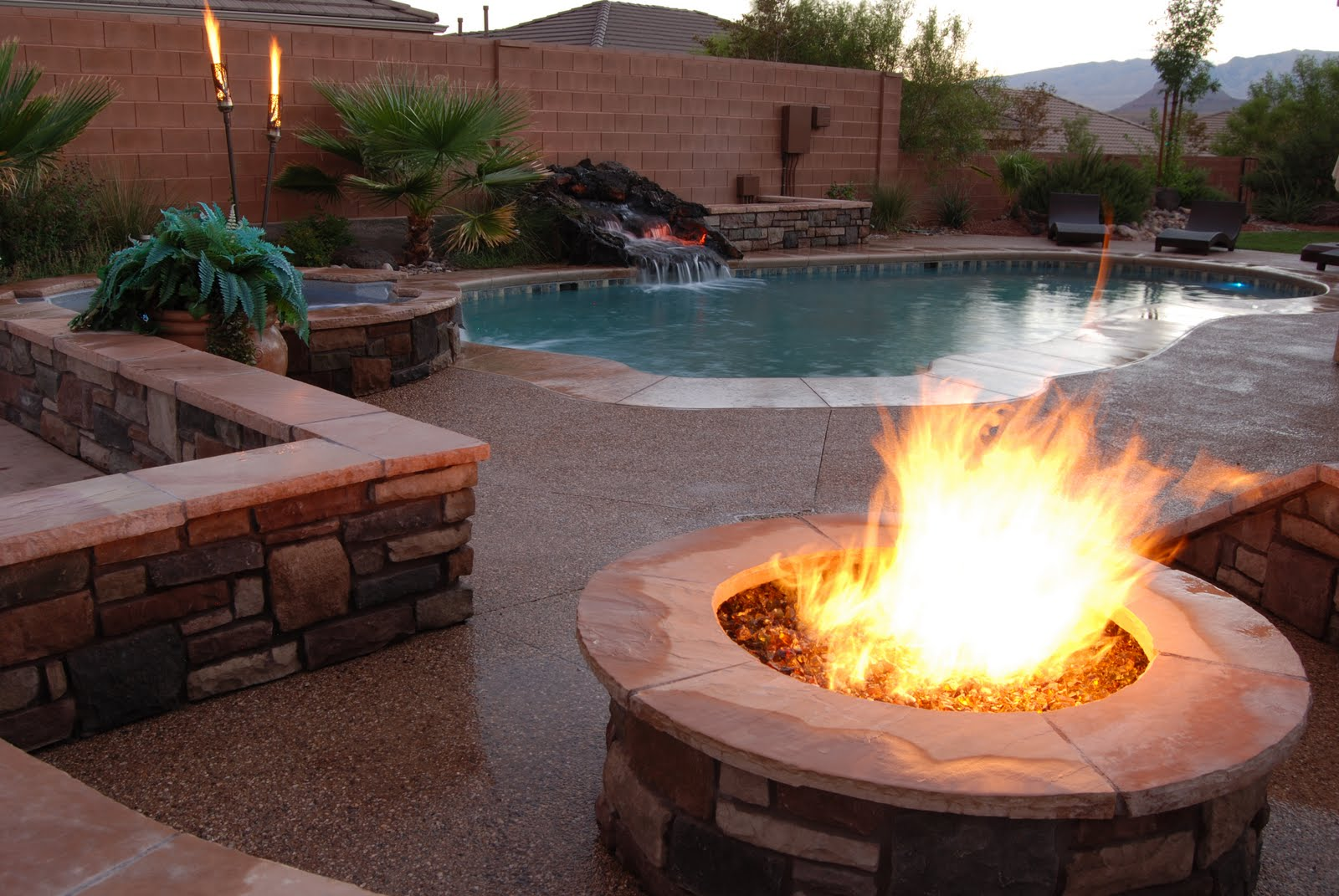 Gas piping gas tiki torches salt lake provo st george for Affordable pools st george utah