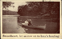 romance with love postcard