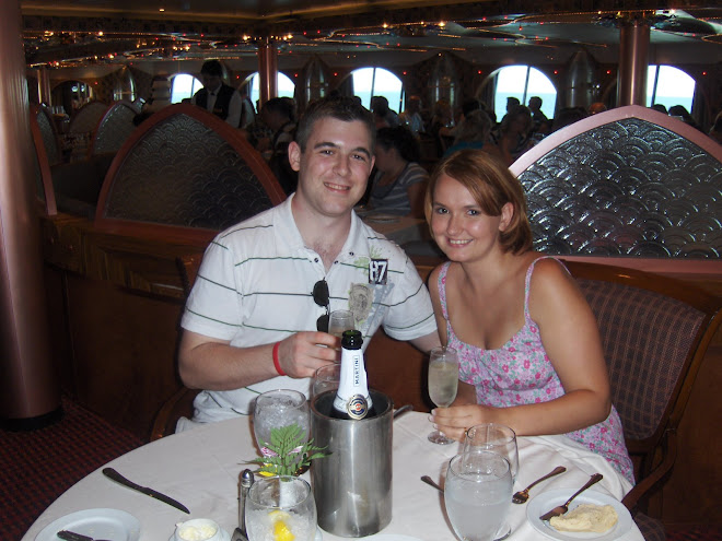 Scott and Laura on a cruise