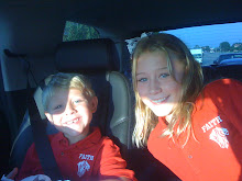 JR and Gabi on the way to school