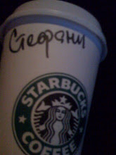 Stephenie on Russian Starbucks cup