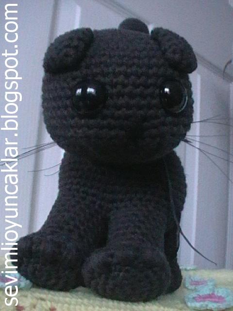 sevimli oyuncaklar dolls&toys: Amigurumi Kara Kedi ...