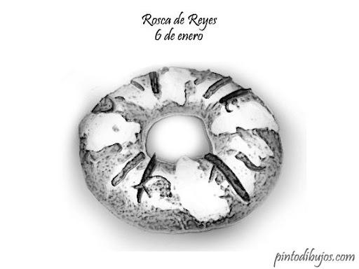 Rosca de Reyes para colorear