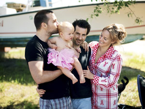 The Budding Rose: A real modern family: Mum, Two Gay Dads and a Baby