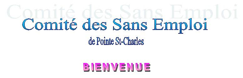 Comité des Sans Emploi de Pointe St-Charles