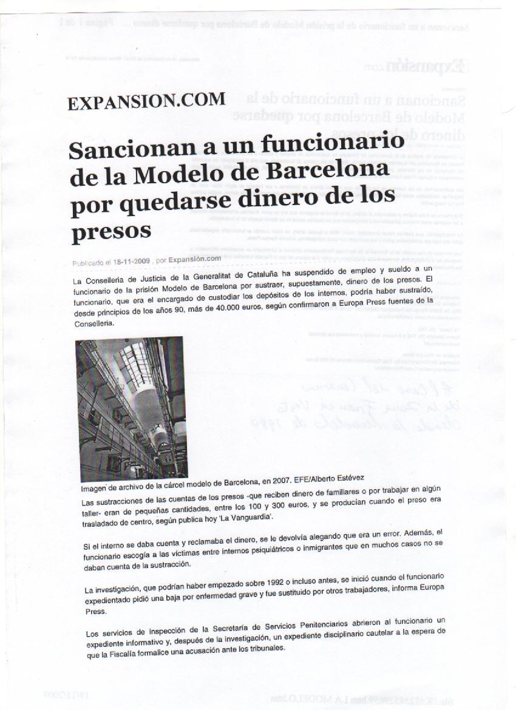 La Gran Corrupción: LA MODELO. CÁRCEL MODELO DE BARCELONA.