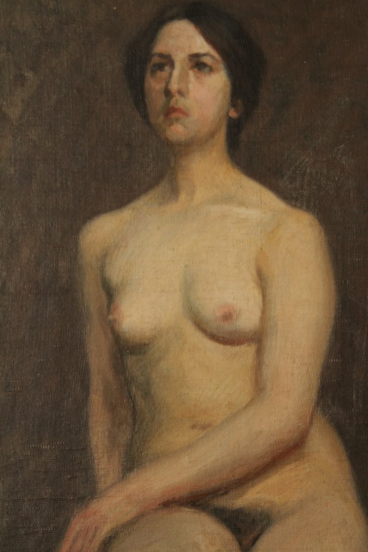Caption: Seated Female Nude