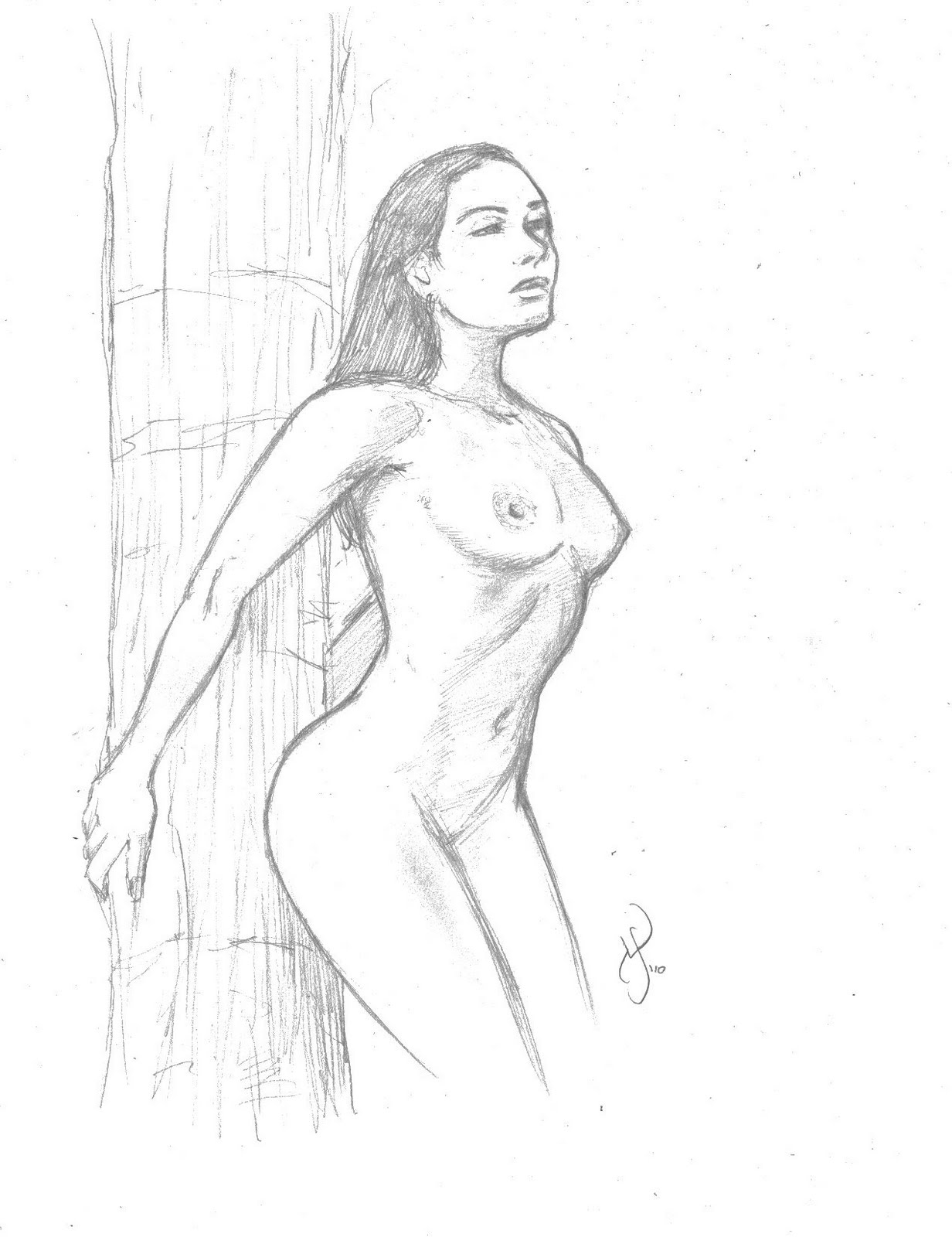 Naked sex penicle sketch nude image