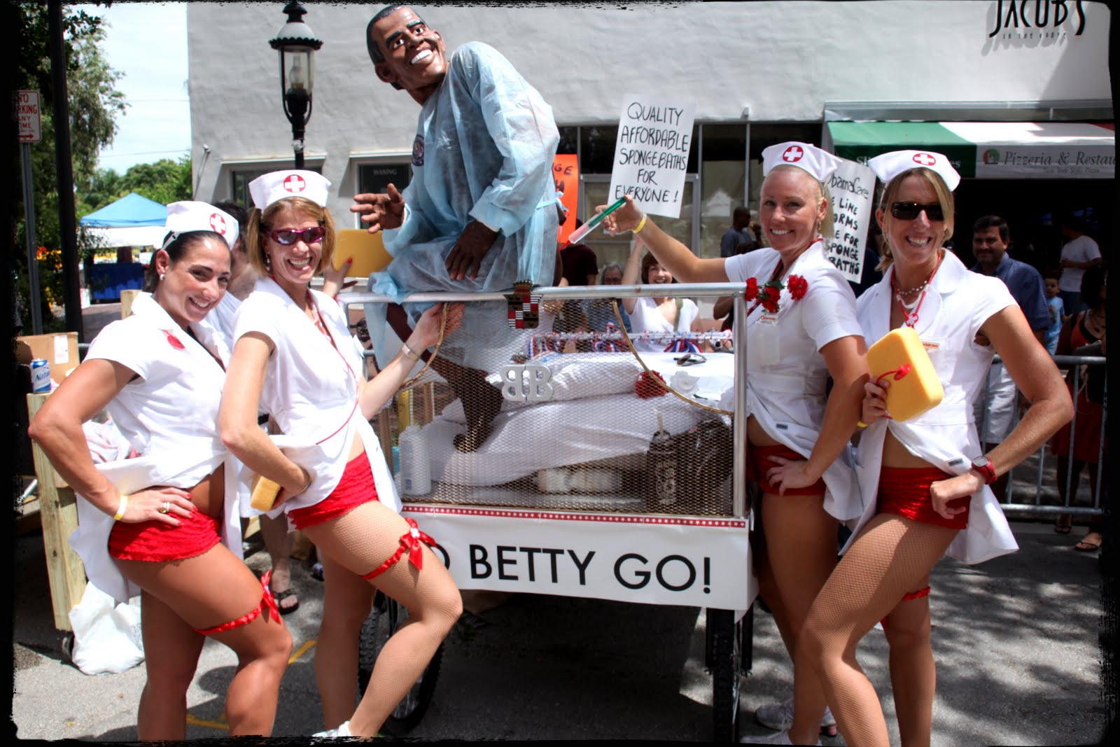 Having Fun at the Coconut Grove Bed Race 2012