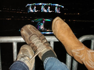 our shoes had a great view!