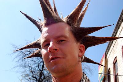 cone liberty spikes mohawk hair