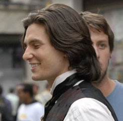Ben Barnes hairstyle from the side