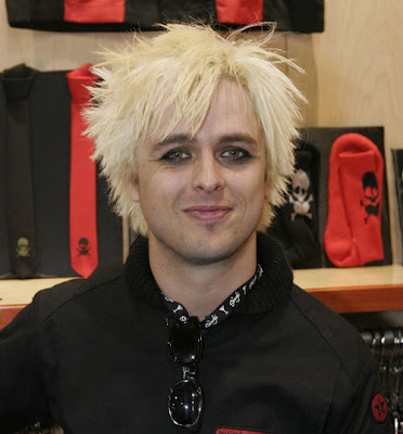 Billie Joe with blonde hairstyle