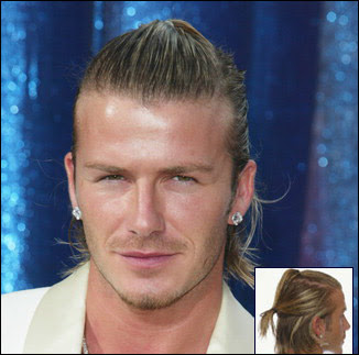 David Beckham's ponytail