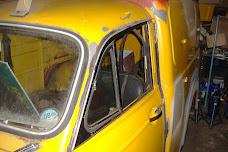 Morris Van cab gutter repairs.