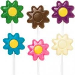 Dancing Daisy/Hibiscus Design Lollipop Chocolate