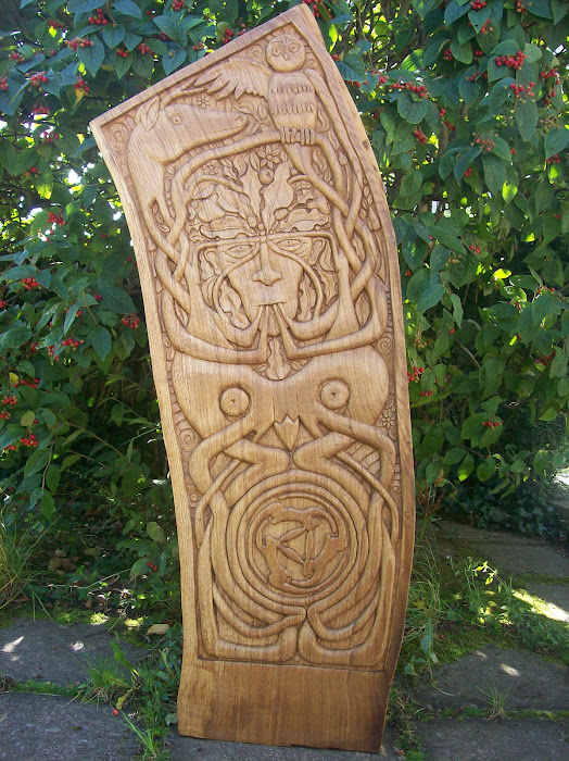 Green Man in Oak