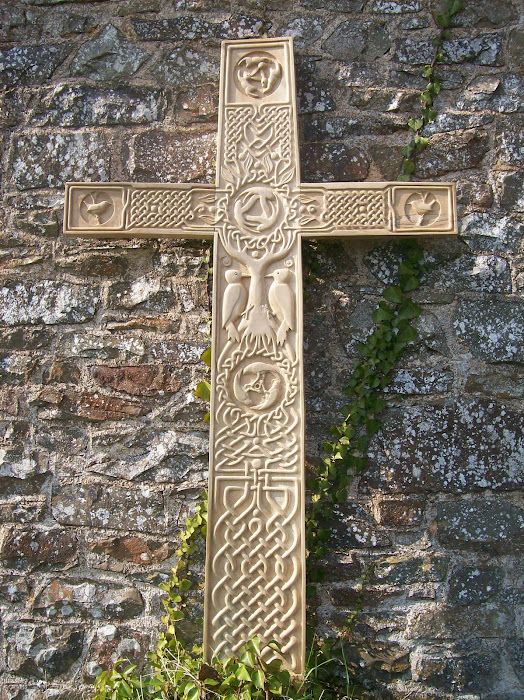 Holly cross (hand carved)