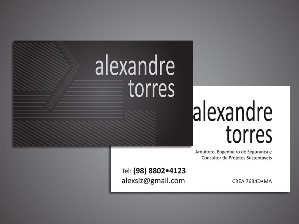 Excepcional Jbass Designer: Alexandre Torres Arquiteto - cartão de visita SQ85