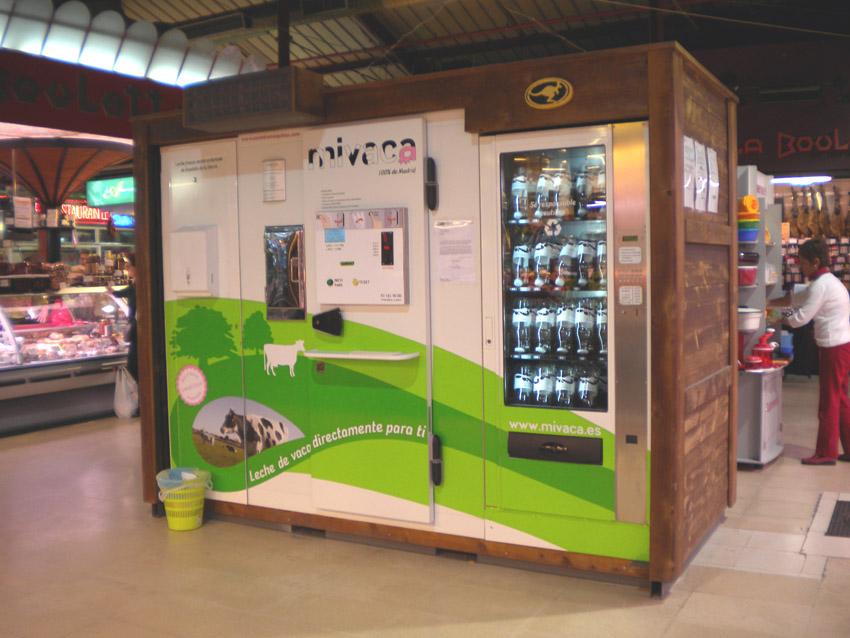 desayuno de domingo: Máquinas de leche fresca en Madrid