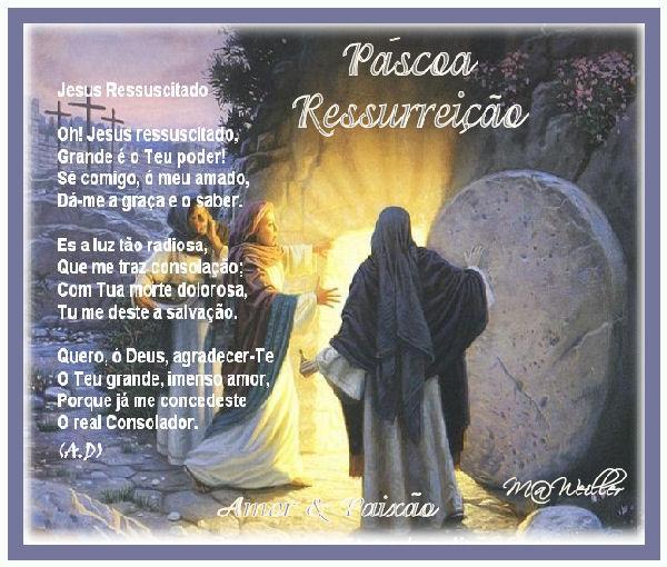 RESSUREIÇÃO DE CRISTO-PÁSCOA