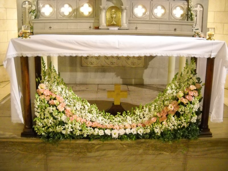 ... práctica: Arreglo floral en Iglesia en Florida - Evento Bodas
